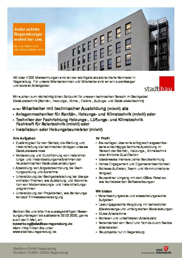 Stellenangebote Regensburg Büro : stellenangebote stadtbau regensburg ~ Watch28wear.com Haus und Dekorationen